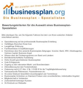 Checkliste - Wo kann ich meinen Businessplan erstellen lassen