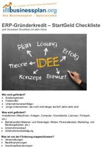 Kfw-Gründerkredit Startgeld Checkliste
