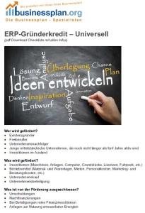 Kfw-Gründerkredit Universell Checkliste
