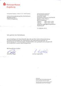 Sparkasse Empfehlungsschreiben Businessplan.org